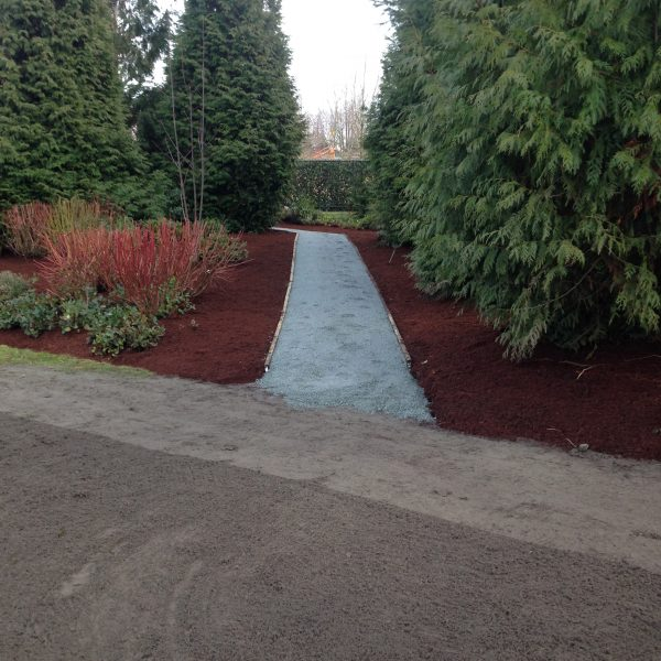 Bark Mulch at BC Hydro After
